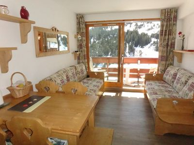 Photo for MOTTARET 3 rooms, 4/5 pers, ski-in / ski-out, superb south view, private covered parking