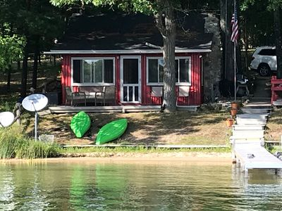 Photo for Charming Lakefront  Cabin w/ Boat Ramp on a Sandy Beach
