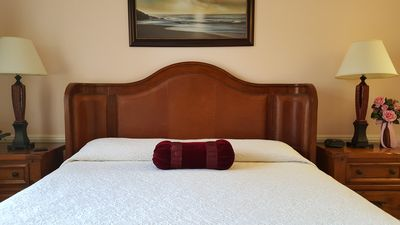 California King Bed with Memory Foam Very Comfortable For A Good Nights Rest
