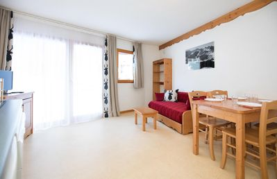 Photo for Studio for 4 persons situated on the ground floor, 26 m², which contains 1 bright living room with a