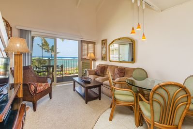 Living & Dining Area with Ocean Views