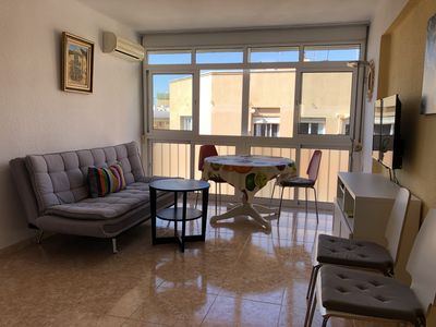 Photo for Bright apartment 300 meters from the beach of El Palo.