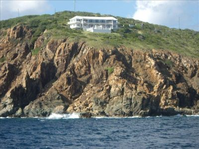 Tradewinds Villa photographed from a private yacht