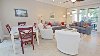 Photo for Beautiful 4-bed, 4-bath villa in heart of Harbour Town, pool, bike to the beach!
