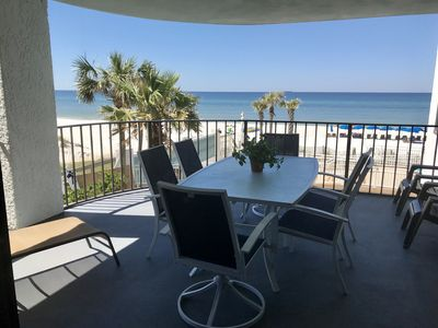 Photo for ESCAPE TO THE COAST IN STYLE, BEACHFRONT CONDO, LG BALCONY, BEACH SERVICE INC