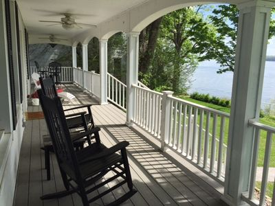 Wrap around porch with a spectacular view.  Rock your cares away.