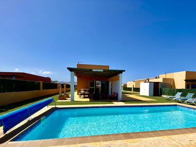 Photo for Luxury AirConditioned Villa With Private Heated Pool, Golf Course And Sea Views