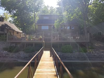 Photo for Beautiful 3 bed/2.5 bath house in a NO WAKE cove