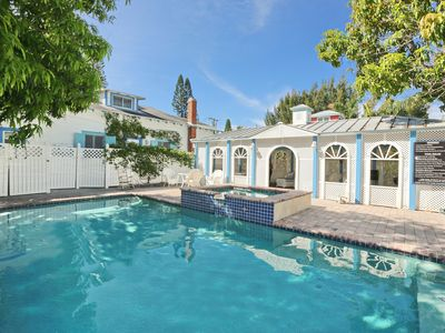 Photo for Classic Anna Maria 2 Family Home With Pool/Jacuzzi And Gazebo Across From Beach