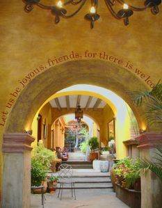 This is the entry to Cinco Flores, our gated, five-unit  compound in Centro.