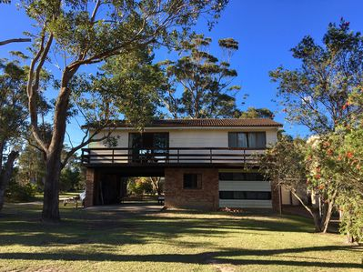 Classic south coast house with upstairs living, and undercroft carport