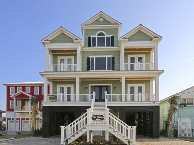 Photo for New Oceanfront home with  Pool/Spa, Game Rm, Elevator,4  Masters & Movie Theater
