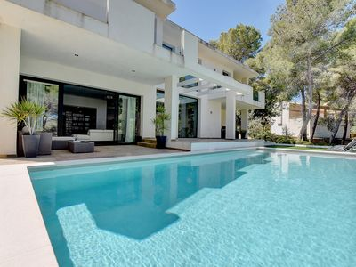 Photo for MODERN Villa La Mar with SALTY WATER POOL, TERRACE & partially SEA VIEWS