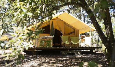 Photo for Camping Huttopia Fontvieille *** - Classic Tent 3 Rooms 5 People