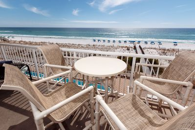 Patio Furniture  - patio furniture for four plus additional seating on the sides