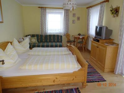 Photo for Double room with bath, WC - Historical farm Schabus