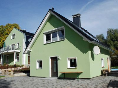 Photo for Holiday house rainbow with fireplace and terrace - manor house apartments with fireplace, sauna and outdoor pool