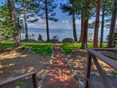 Photo for Adorable, Cozy Lakefront Cottage, Upscale Mountain Style Amenities and Bedding