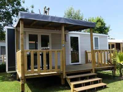 Photo for Camping Le Nauzan Plage **** - PREMIUM 3-room mobile home 4/5 people