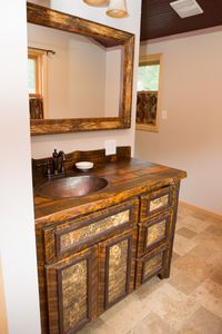 Made in 2014 from reclaimed lumber, locally.