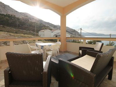 Photo for One bedroom apartment near beach Metajna, Pag (A-6503-f)