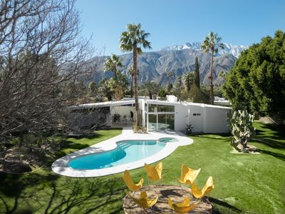 Photo for 3BR/2BA Mid-Century Home w Pool/ Jacuzzi In Palm Springs close to Downtown