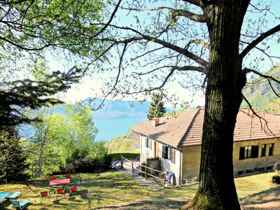 Photo for Holiday apartment with large garden and lake views
