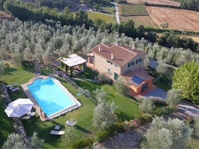 Photo for La Meraviglia is a beautiful independent stone house with private pool, located on a hillside near t