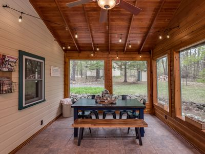Photo for Enjoy Pontoon Rides, Swimming & Fishing at this Secluded Lakefront Cabin