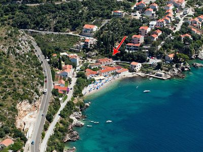 Photo for White groundfloor apartment at beach front villa near Dubrovnik