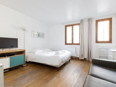 Photo for HEART OF THE  LATIN QUARTER BY PANTHEON AND  LA SORBONNE - SPACIOUS STUDIO!