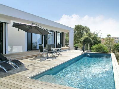 Photo for Luxurious, modern villa with panoramic view, private swimming pool and near the sandy beach
