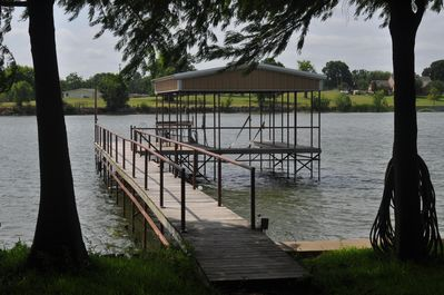 Private dock, boat lift and fish cleaning station