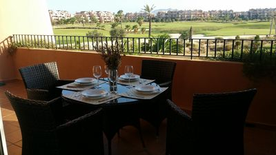 Photo for Apartment in Mar Menor Golf Resort, 4-6 people, golf, swimming pool, 5min beach.