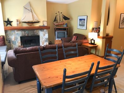 Photo for Spacious, Quiet, Golf Course Location. Wood Fireplace, Free Shuttle