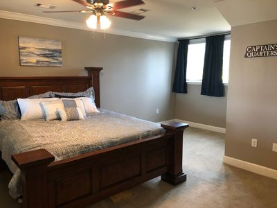 Upstairs Master with Ample Room for Blow up Mattress