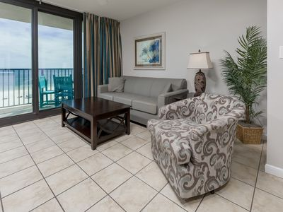 Photo for SUNRISE VIEW! BEACH FRONT! Full Kitchen - Bunks - FREE Wifi - Phoenix Hotels!