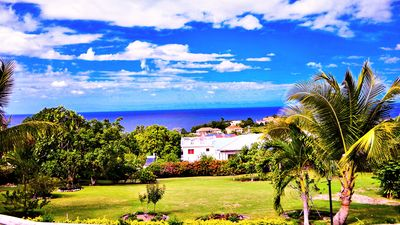Ocean View Over the Lawn