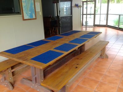 Large table  seats 10