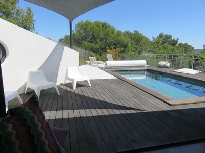 Photo for 220m2 villa with pool, facing south, relaxation assured!