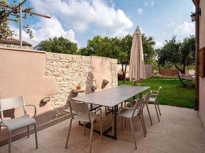 Photo for Villa with garden, inneryard and terrace with a view to Talean Mountains