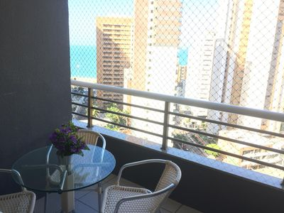 Photo for PROMOTIONAL RATES - 3 rooms, sea view, next to Beira Mar