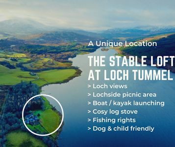 Photo for The Stable Loft is cosy, spacious holiday property on the banks of Loch Tummel