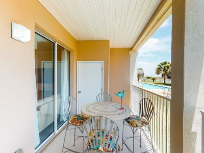 Photo for NEW LISTING! Adorable condo w/ private balcony, shared pool, & gulf views!