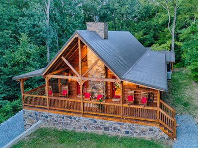 Photo for New Construction Log home, beautiful home with boat slip
