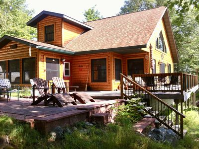 Photo for Get Away From It All At This Private One Family Log Cabin