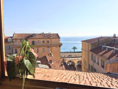 Photo for EXCEPTIONAL APARTMENT, SEA VIEW, MODERN, CLIM, WIFI, IN THE HEART OF OLD NICE