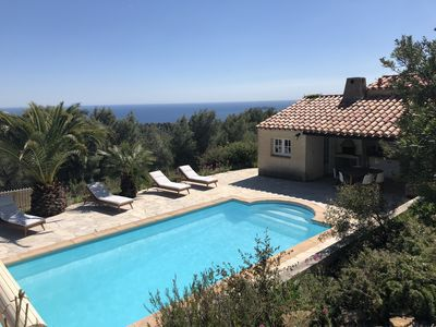 Photo for Family villa in the heart of a protected natural area and panoramic sea view