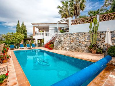 Photo for Large Villa With Private Heated Pool And Stunning Sea And Mountain Views