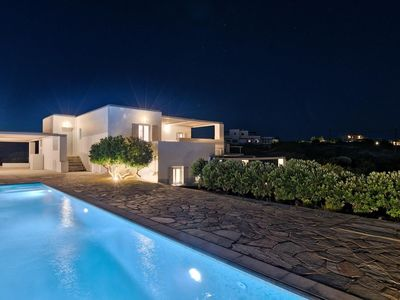 Photo for Luxury Private Villa with Private Pool and Secluded and panoramic views of Naxos and Filizi islands